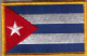 Cuba Embroidered Flag Patch, style 08.